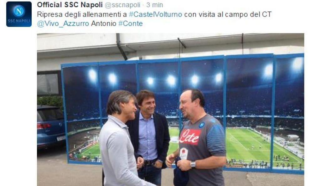 Serie A: Conte a Napoli, che risate con Oriali e Benitez