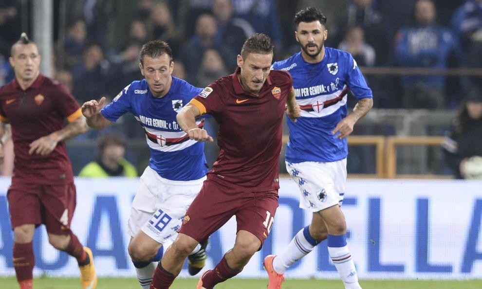 Serie A Samp-Roma 0-0: occasione per la Juve