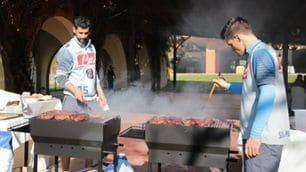 FOTO Il Napoli fa gruppo in vista della Lazio: pranzo con asado
