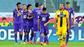 FOTO Rodriguez, Gilardino e Salah: la Fiorentina batte il Parma