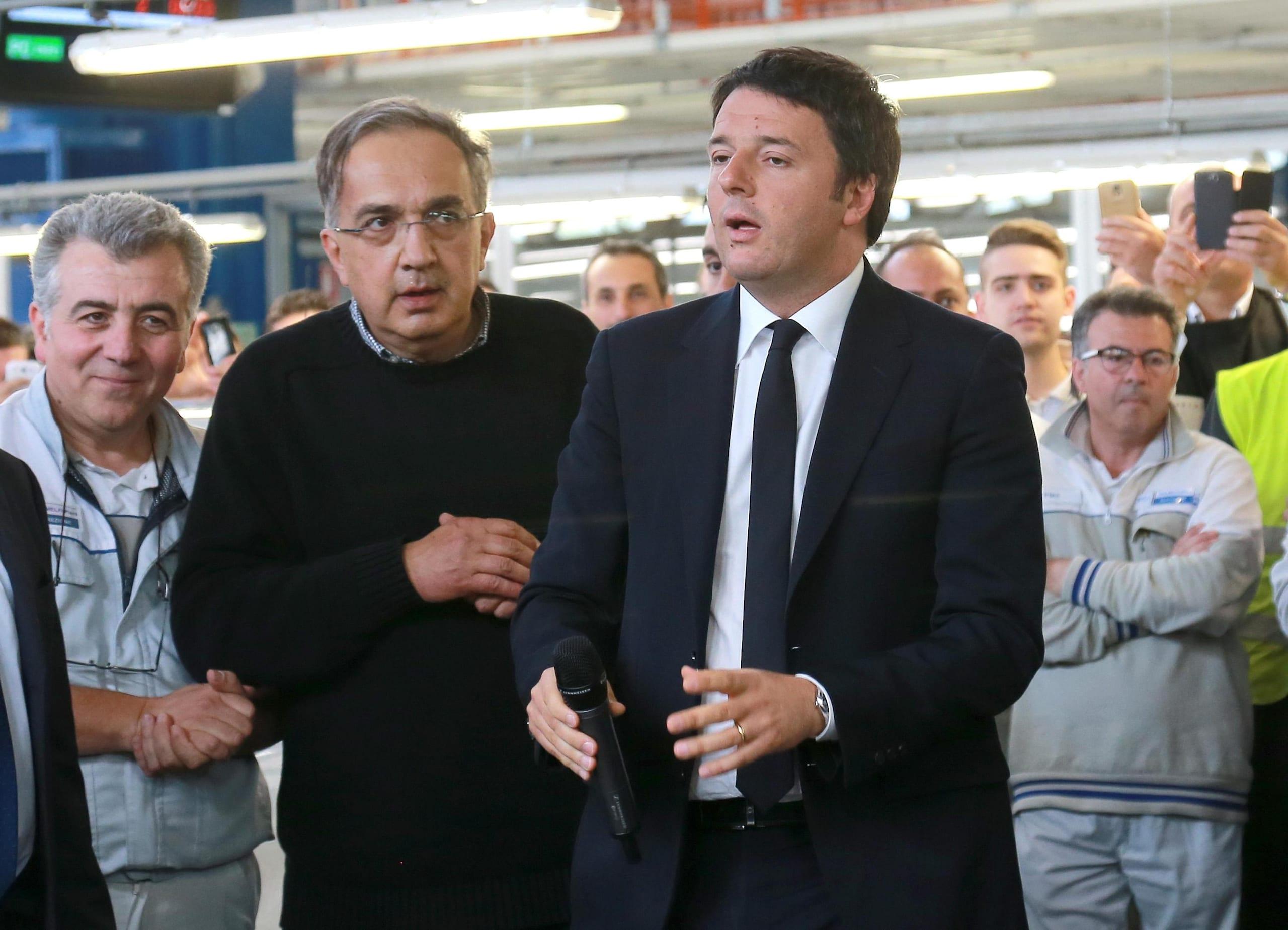 Renzi visita Marchionne a Melfi