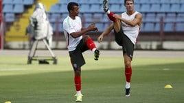 Ronaldo, che spaccata in allenamento in Armenia!