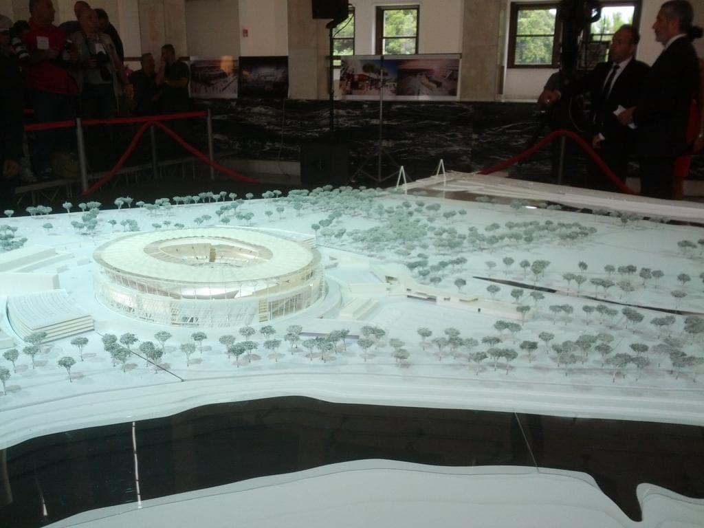 Roma: la presentazione del progetto Stadio