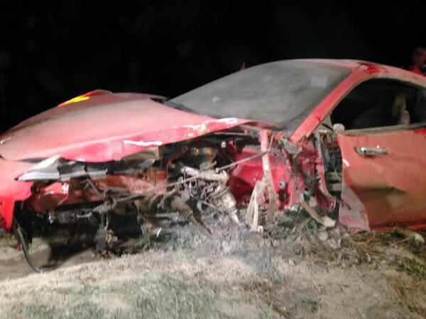 Vidal, ecco la sua Ferrari distrutta dopo l'incidente