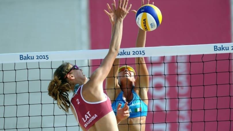 Beach Volley: European Games, a Baku Giombini-Toti agli ottavi