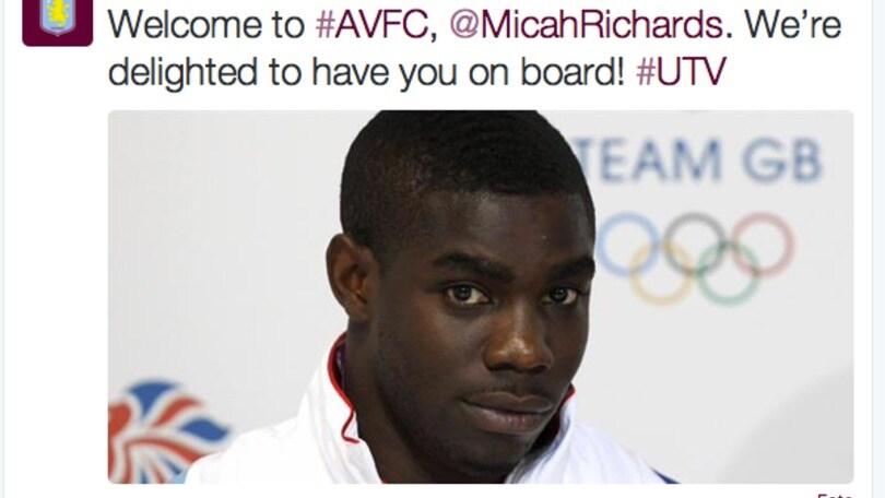 Fiorentina, Richards ufficiale all'Aston Villa