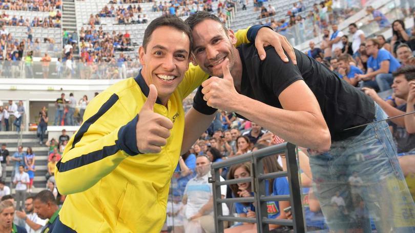 Volley, l'abbraccio al Foro tra Sintini e Raphael