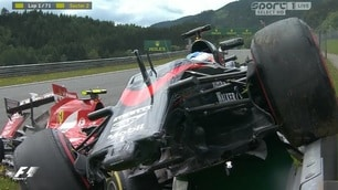Gp d'Austria: Alonso e Raikkonen, che spavento! Sono illesi