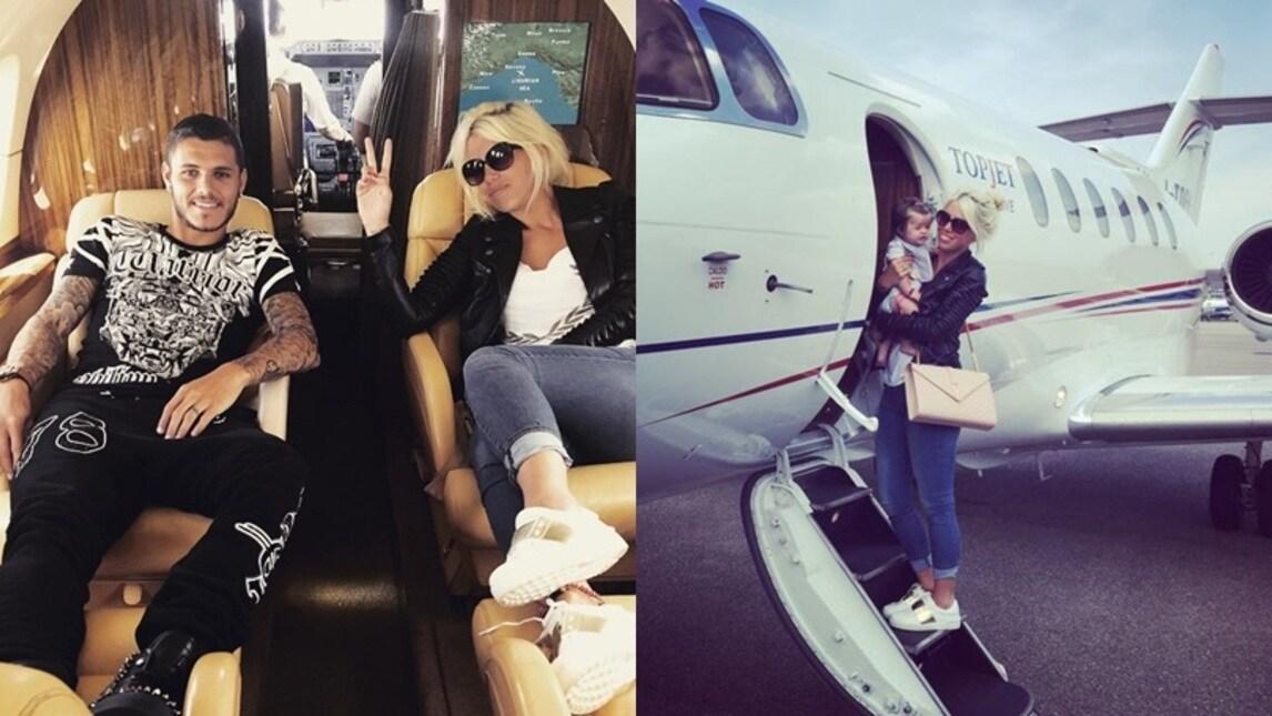 Jet Privato Ferrero : Wanda e icardi jet privato per le vacanze in famiglia