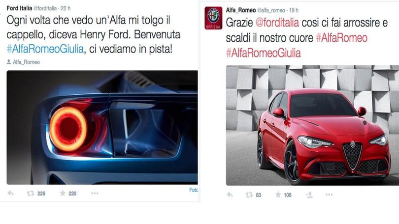 Giulia: Ford si toglie il cappello, Alfa diventa… rossa