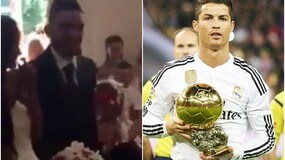 """Sìììì!"", lo sposo imita Ronaldo"