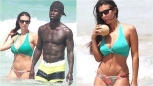 Bacary Sagna e la moglie Ludivine Kadri in vacanza a Miami