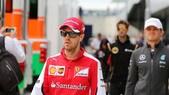 F1 Ferrari, Vettel: «Sul podio grazie alla pioggia»