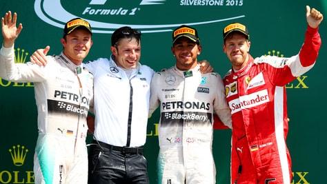 F1 Silverstone: doppietta Mercedes, Vettel va sul podio!