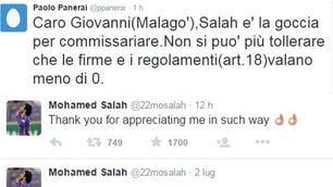 Bufera Salah: «Ora non parlo». Consigliere viola: «Inter da Serie B»