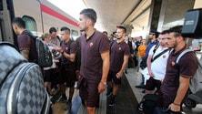 Roma partita per Pinzolo. Gruppo senza Totti