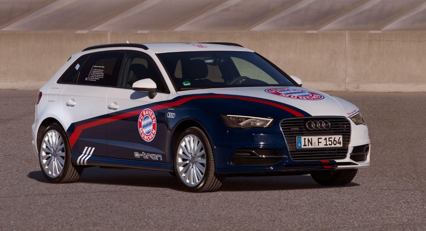 Audi omaggia le big del calcio con quattro A3 e-tron speciali