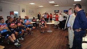 Napoli, il discorso di De Laurentiis alla squadra