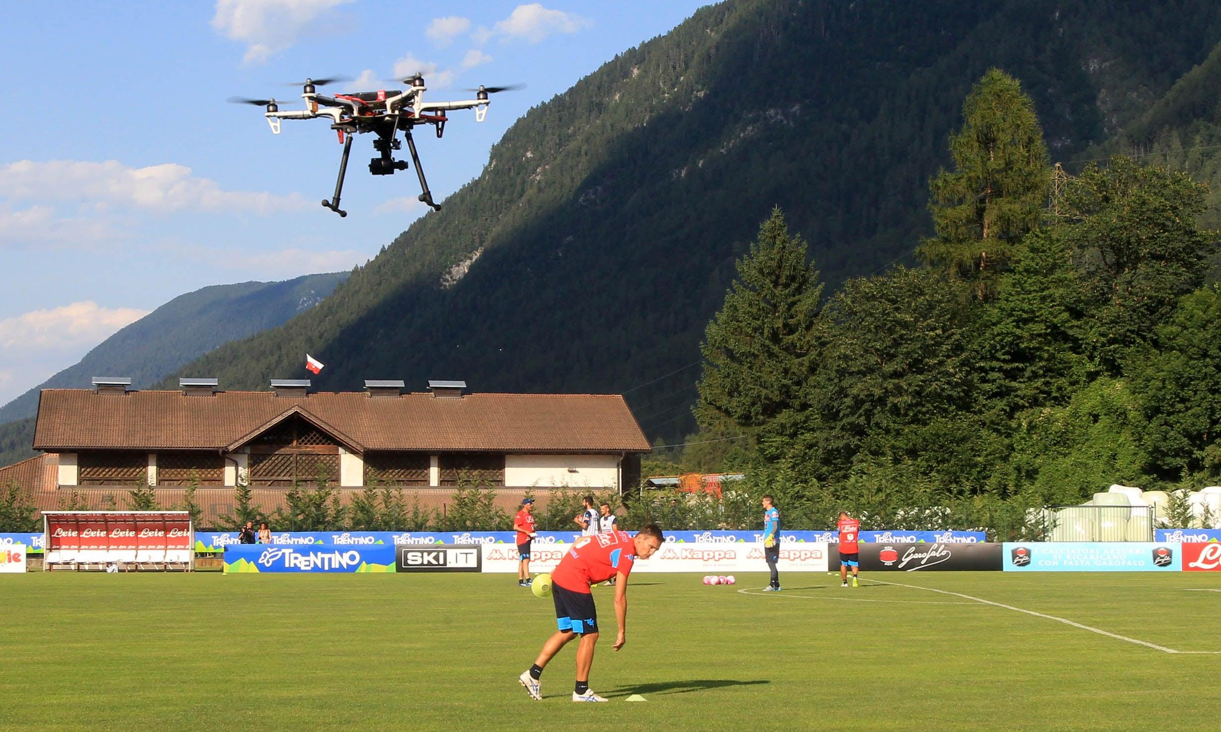 Inter e Napoli, ora è passione drone per studiare gli allenamenti