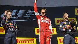 Gioia Ferrari, Vettel sul podio a Budapest