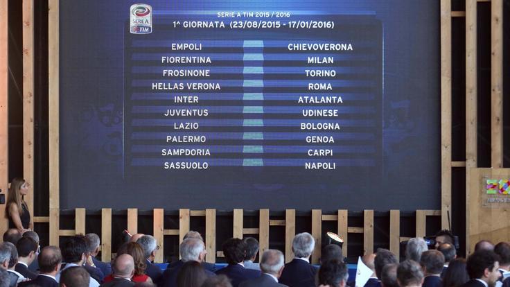 Calendario Serie A, ecco tutte le giornate