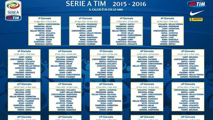 Scarica Il Calendario Di Serie A 2015 16 O Sfoglia Tutte Le Giornate Corriere Dello Sport