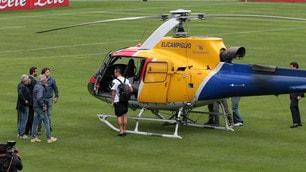 Napoli, De Laurentiis e i giocatori lasciano Dimaro in elicottero