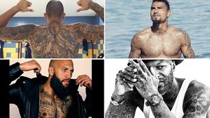 Ecco i 10 calciatori più tatuati