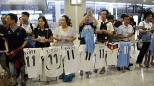 La Lazio è arrivata a Shanghai