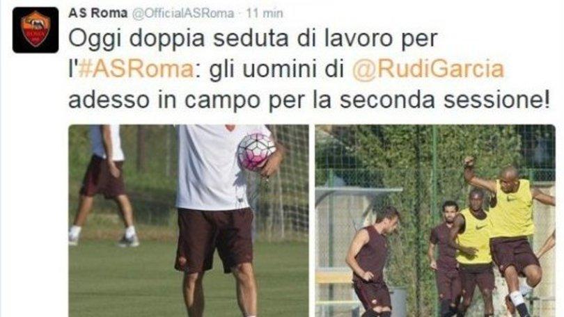 Roma: Salah in gruppo, ma la foto sparisce