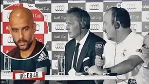Sguardo da ricovero, Guardiola 'crasha' in conferenza stampa