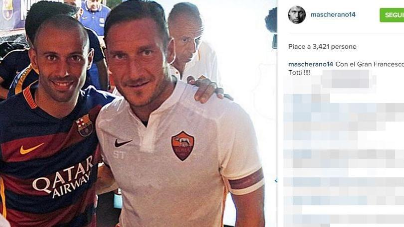 Mascherano: «Resto al Barcellona. E che grande Francesco Totti!»