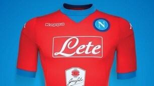 Napoli, la terza maglia è rossa