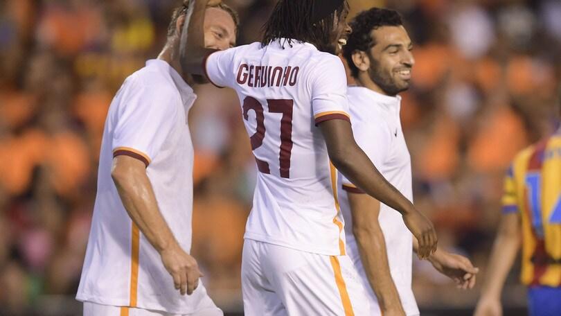 Valencia-Roma 1-3: Salah, Totti e Gervinho