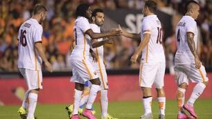 Valencia-Roma, il film della partita