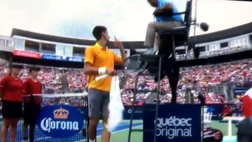Spinello in tribuna, Djokovic chiede l'intervento dell'arbitro