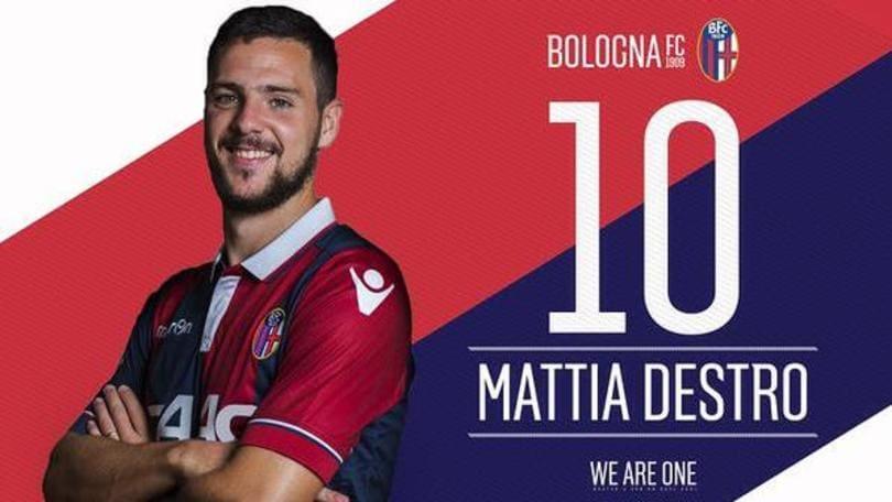 Ufficiale Destro al Bologna: avrà la maglia n. 10