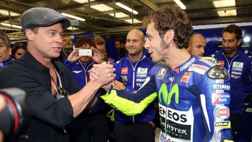 Brad Pitt:«Vorrei essere come Valentino Rossi»