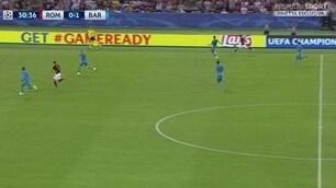 Florenzi, gol incredibile al Barcellona! Ecco la fotosequenza