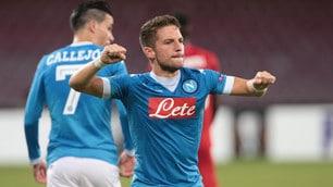 Europa League, Napoli-Bruges 5-0: azzurri incontenibili