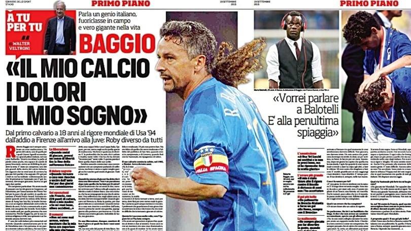 Veltroni intervista Baggio:«Caro Balotelli, ascoltami»