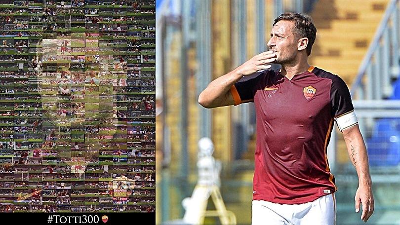 Roma, record Totti: 300 gol in giallorosso