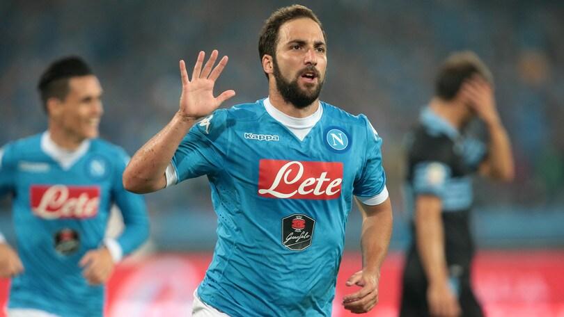 Insigne e Higuain show: Napoli-Lazio 5-0