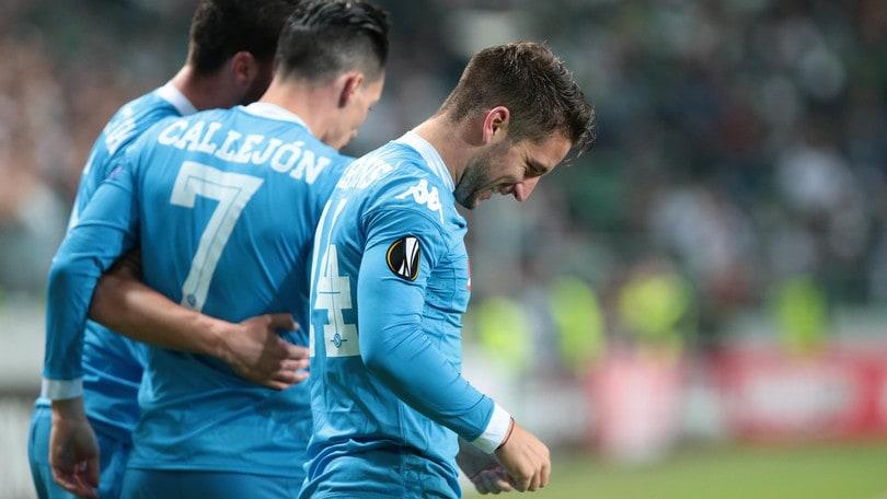 Legia Varsavia-Napoli 0-2: Mertens-Higuain, è show azzurro
