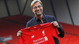 Klopp, presentazione ufficiale a Liverpool: le foto del 'normal one'