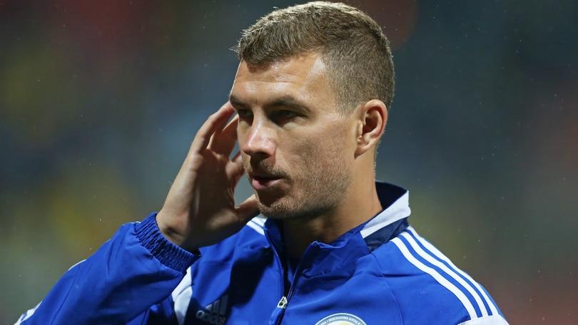 Roma, Dzeko resta in panchina con la Bosnia