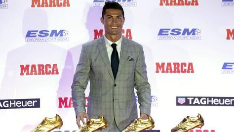 Cristiano Ronaldo riceve la quarta Scarpa d'Oro