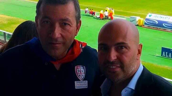 Il Cagliari Club Chiusa Pesio al Sant'Elia con il presidente Giulini