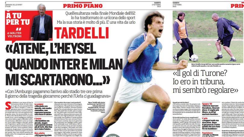 Veltroni intervista Tardelli: «Inter e Milan mi scartarono...»
