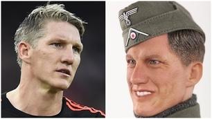 Il pupazzo Bastian fa arrabbiare Schweinsteiger